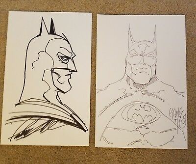 Batman Original sketches by artists Pat Lee and Kang