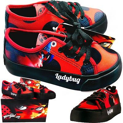 Ladybug Shoes Official Trainers Double Sole Creepers Style For Miraculous Fans