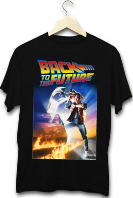 Back To The Future Marty McFly DVD Cover 80's Cool Sci-Fi Movie Mens T-Shirt