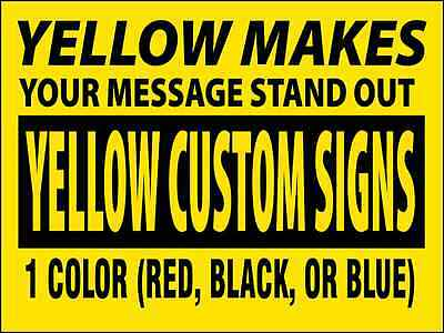 """20 -24""""x18"""" Business Custom Yard Signs 1 Color,2 Sided w/ FREE STAKES"""