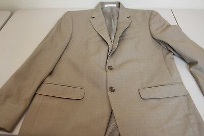 Chaps Polyester Rayon Blend Brown 2 On Lined Blazer Size 40r
