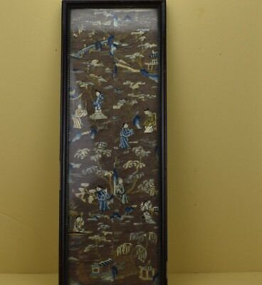 Chinese Antique Qing Dynasty Gold Thread Textile Sleeves
