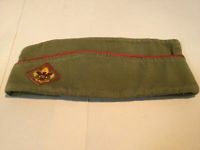 Vintage Official BOY SCOUTS GARRISON CAP HAT SIZE Medium