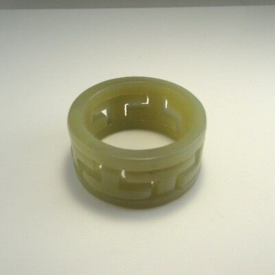 Old Natural Green Nephrite Jade CONG Sculpture Hand Carved Chinese Paper Weight