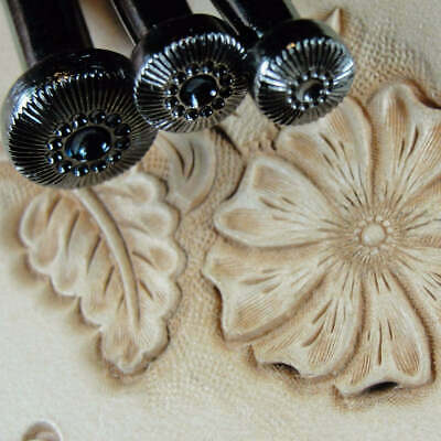 Sheridan Style Steel Craft Japan - Flower Center Stamp Set (3 Leather Tools)