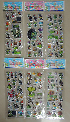 Plants Vs Zombies Puffy Sticker Party Loot Lolly Bag Treat Box Filler Favor Gift