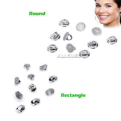 Dental Ortho Direct Bond Eyelets Rectangle Round Crimpable Hook Lingual Buttons