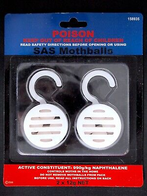 2 X12G Net  Mothballs - Poison Naphthalene Protect Clothes Repellant