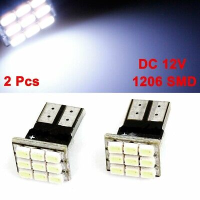2x T10 LED 9SMD White Car License Plate Light Tail Bulb 2825 192 194 168 W5W