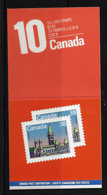 Canada - Booklet Pane of 10 in Cover - Houses of Parliament #1165a (BK101) MNH