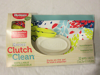 Huggies Clutch n Clean Wristlet pouch bag for diaper wipes (No Wipes Included)