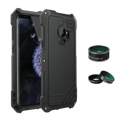 For Samsung Galaxy S9+ Plus Wide Angle Macro Fisheye Camera Lens 3In1 Metal Case