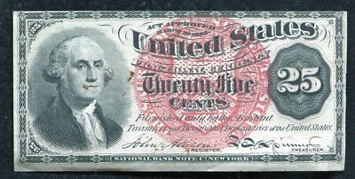 Fr 1301 25 Twenty Five Cents Fourth Issue Fractional Currency About Unc