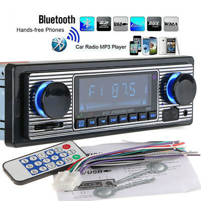 12V 1 DIN Car Player Stereo Bluetooth FM MP3 USB SD Radio Receiver Audio AUX
