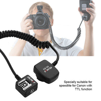 VILTROX OC-E3 0.8m E-TTL Remote Flash Off Camera Shoe Cord Cable For Canon GD