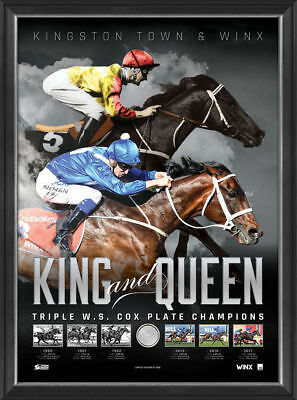 Winx & Kingston Town King & Queen Official Cox Plate Champion Print Frame - 2017
