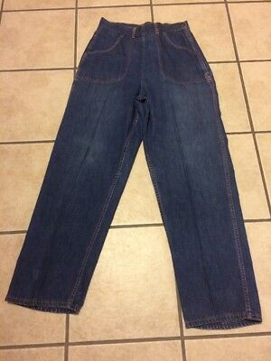 1950's Ruffies Out Of The West Sanforized Auth.cowgirl Denim Jeans Meas. 30X29.