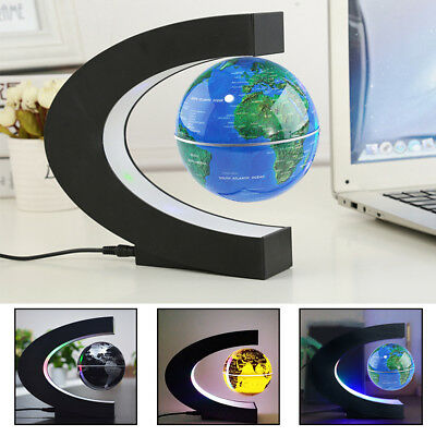 LED Magnetic Floating Globe Anti Gravity World Map Earth Suspending In The Air
