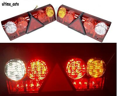 Pair 24V 68 Led Rear Running Tail Lights For Truck Man Daf Scania Iveco Volvo