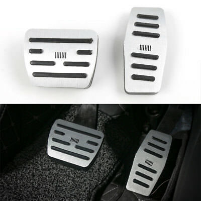 Non-Slip Fuel Gas Brake Foot Rest Pedals Plate Pad Cover For Jeep Compass 2017+