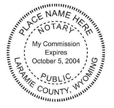State of Wyoming| Custom Round Self-Inking Notary Public Stamp Ideal 400R