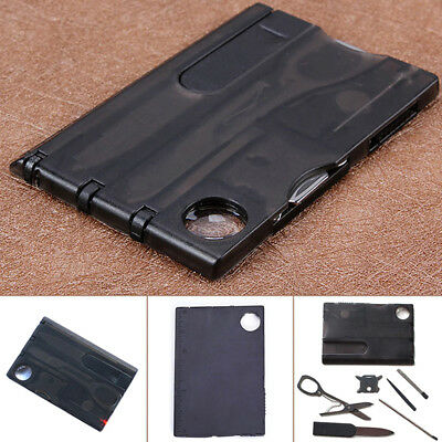 Multifunctional 12 In 1  Camping Wallet thin Pocket Survival Card Outdoor Tools