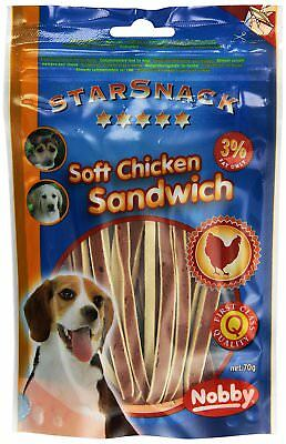 Snack para perros Soft Chicken Sandwich NOBBY 70g
