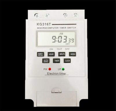 UK KG316T LCD Microcomputer Timer Switch Programmable Controller 12V White