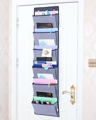 Over The Door Hanging File Organizer Office Supplies Wall Mount Storage Holder