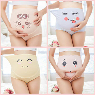 Cotton High Waist Cartoon Pregnant Panties Belly Support Underwear Briefs Nice