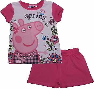 Peppa Pig Girls Spring Time Short Sleeve Pyjama Set  - Spring Summer Collection