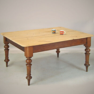 Antique Pine Kitchen Table - Farmhouse, Scrub Top (delivery available)