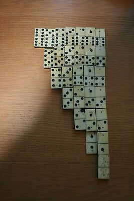 Antique Domino set Wood And Bone