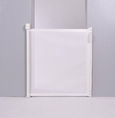 Lascal Kiddyguard Assure White - Retractable Baby Child Toddler Safety Gate