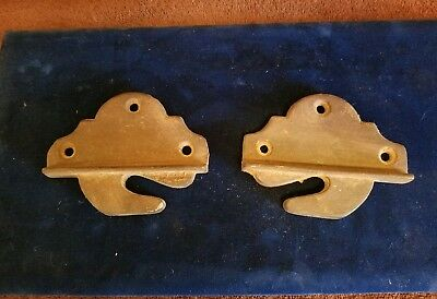 2 PC;RARE Antique Heavy Industrial Cast Iron Wall Brackets !