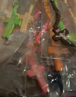 joblot 20 assorted crucifix necklaces