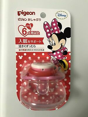 NEW Japan Pigeon Disney Minnie Mouse Pacifier Soother Size: L 6 Months + R17