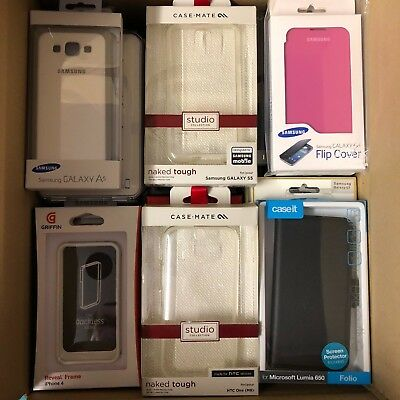 (RV435) JOBLOT of 47 x Mixed Covers & Cases for Various Mobiles / Smart Phones