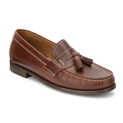 G.H. Bass & Co. Mens Wallace Genuine Leather Slip-on Classic Tassel Loafer Shoe