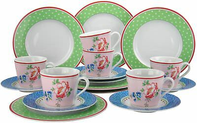 Creatable 16375, country vintage, set da caffè 18 pezzi, multicolore, (l3n)