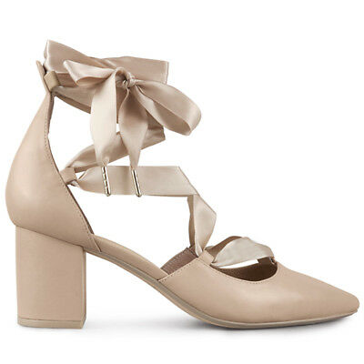 Wittner Ladies Shoes Nude Leather Heels