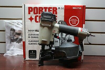 Porter Cable RN 175 A Pneumatic Air Coil Roofing Nailer Hammer Type 1 Portable