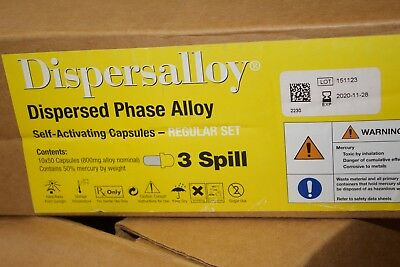 LOT of 60 Jars Dispersalloy Dispersed Phase Alloy Self Activating Capsules