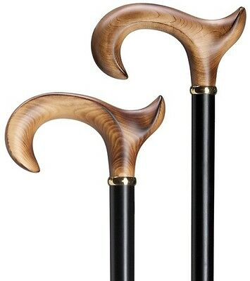 Harvy Anatomical Left Hand Derby Handle Maple Wood Walking Stick Cane Germany