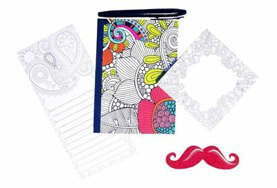 5 Piece Top Adult Coloring Book Idea Journals to Write In Memo Pad Sticky Note