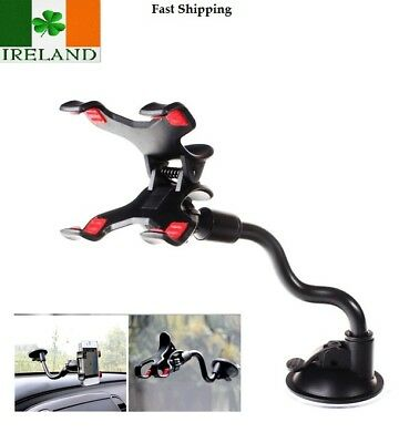 Car Universal Windscreen Suction Mount Holder Stand Mobile Phone Long Neck Flexi