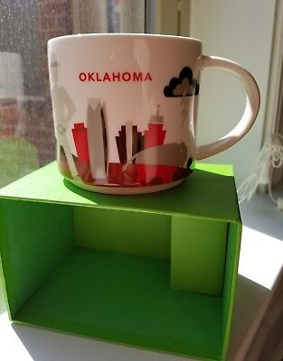 Starbucks Oklahoma Mug You Are Here Collection collectible soon discontinue NEW