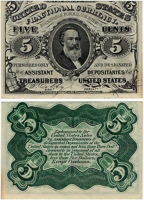 1864 5 Cents FRACTIONAL 3rd Issue Clark FR.1238 5¢ No Reserve!