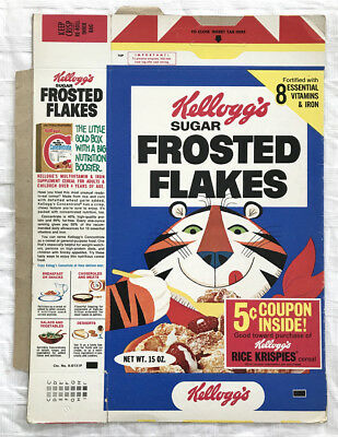 Vintage 1974 1970's Kellogg's Frosted Flakes Cereal Box Flat School Pencil Kit