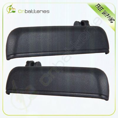 2 Door Handles For 95-98 Tercel  Paseo Black Outside Outer Front Right Left Pair